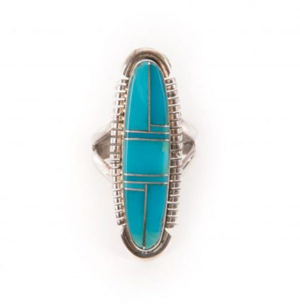 Navajo Turquoise Inlay Ring