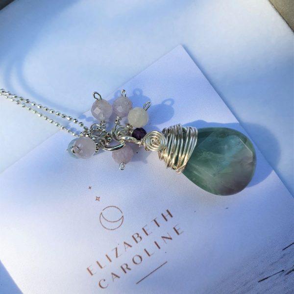Flourite pendant necklace