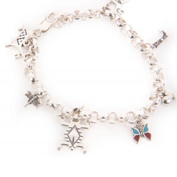 Navajo Sterling 925 Charm Bracelet