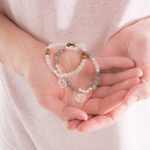 Gemstone Chakra Charm Bracelets