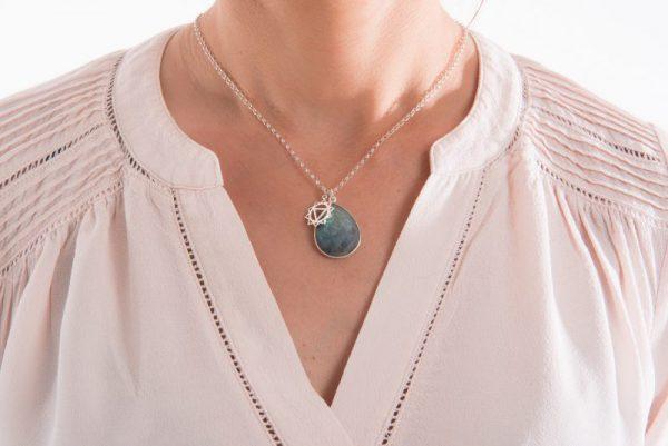 Labradorite Chakra Charm Necklace