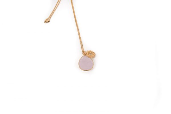 Rose Quartz Heart Chakra Necklace