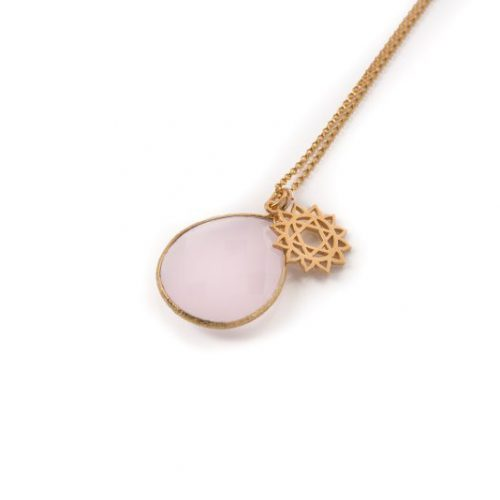 Rose Quartz Heart Chakra Necklace