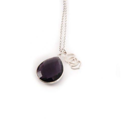 Amethyst Third Eye Chakra Charm Necklace