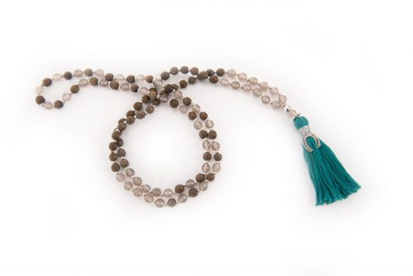 Horse Totem Gemstone Mala Necklace
