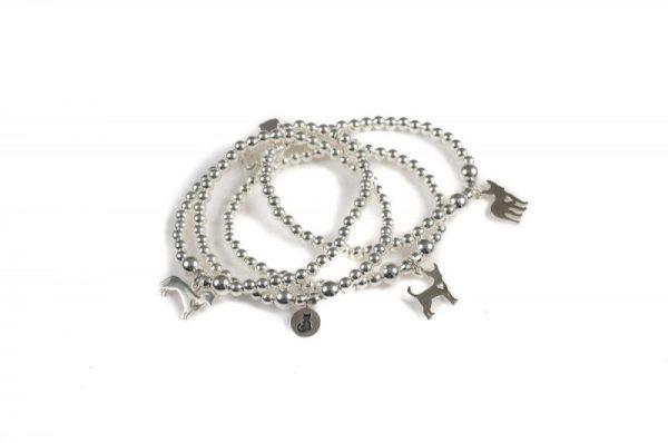 Zen Dog Silver Bracelets