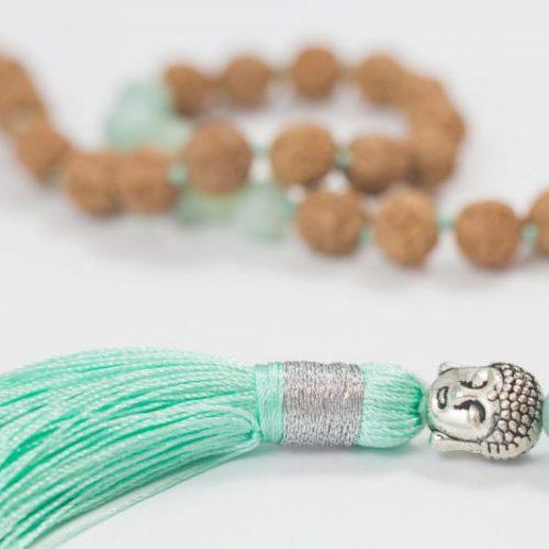 Mini Buddha Rudraksha Mala
