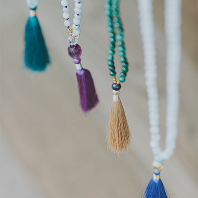 Four hanging malas