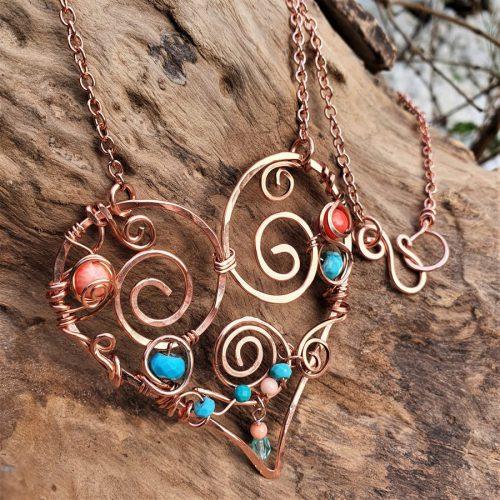 Large Bohemian Heart Pendant