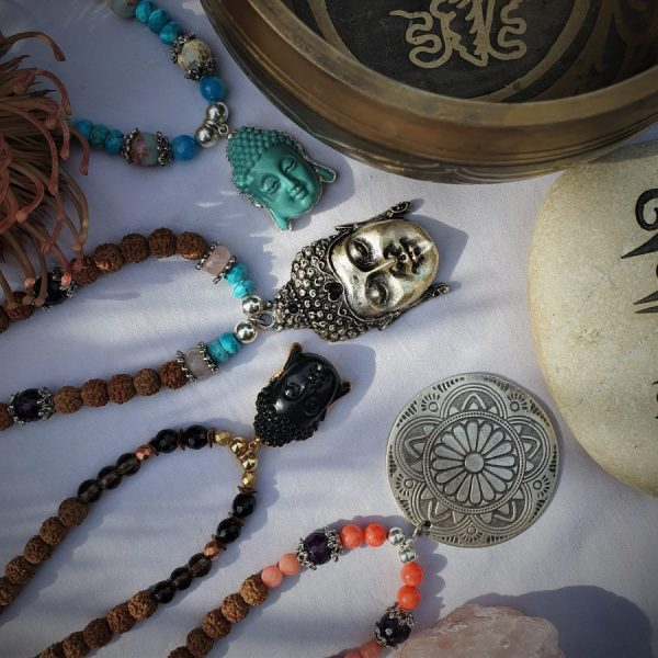 Black Agate Buddha Necklace