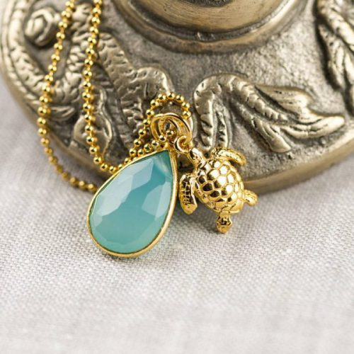 Gold Turtle Totem Necklace