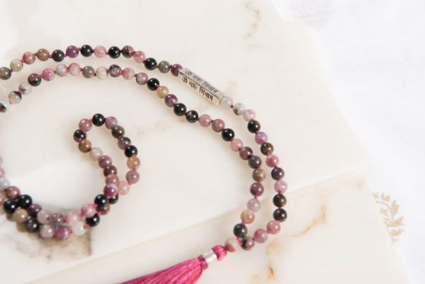 Red Tourmaline Mantra Mala