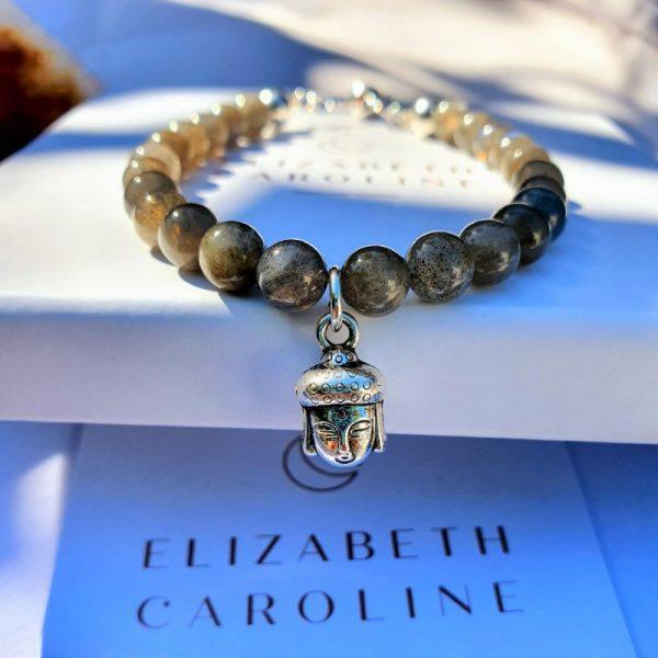 Labradorite Buddha Bracelet