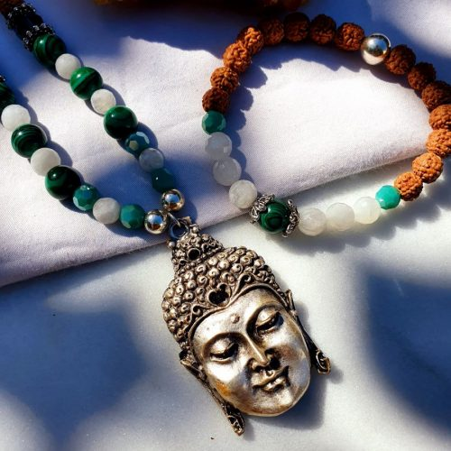 Malachite Mala Necklace