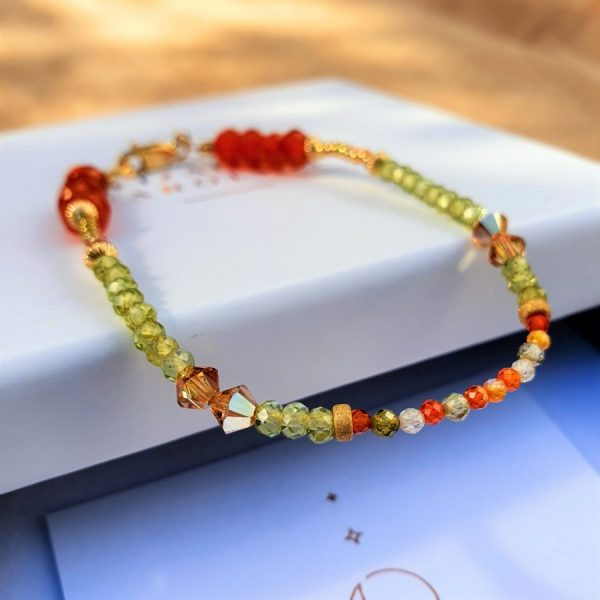 Peridot Gemstone Power Bracelet