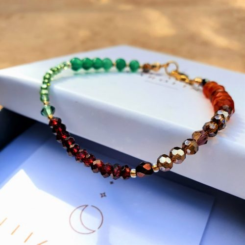 Carnelian and Garnet Power Bracelet