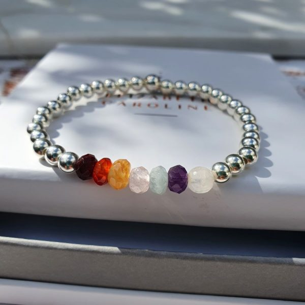 Chakra stack bracelet