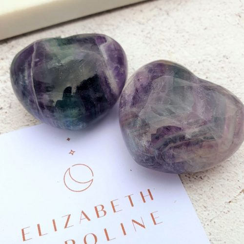 Flourite Gemstone Heart