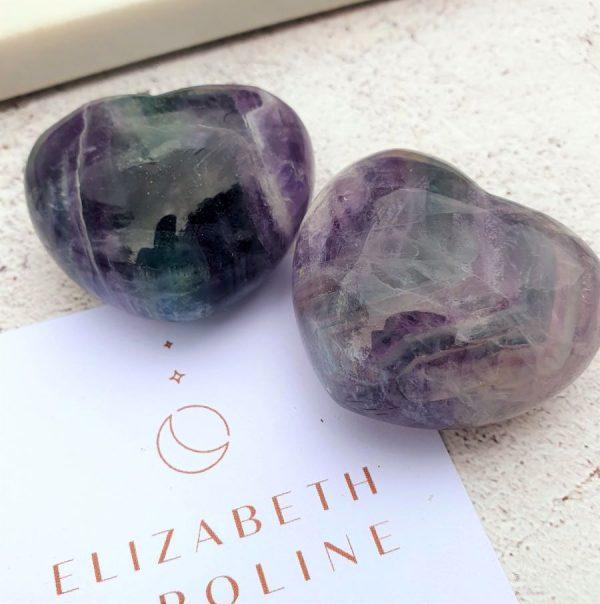Flourite Gemstone Heart