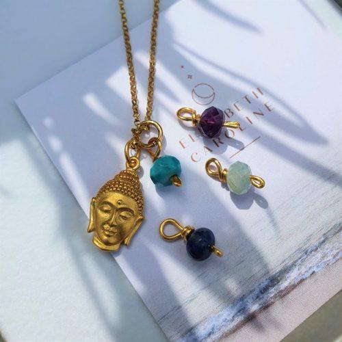 Gemstone Buddha Necklace