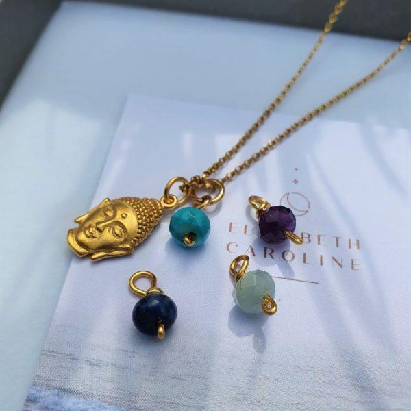 Interchangeable Gemstone Buddhs Necklace
