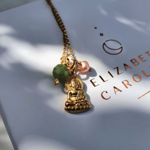 Jade and Pearl Buddha Necklace