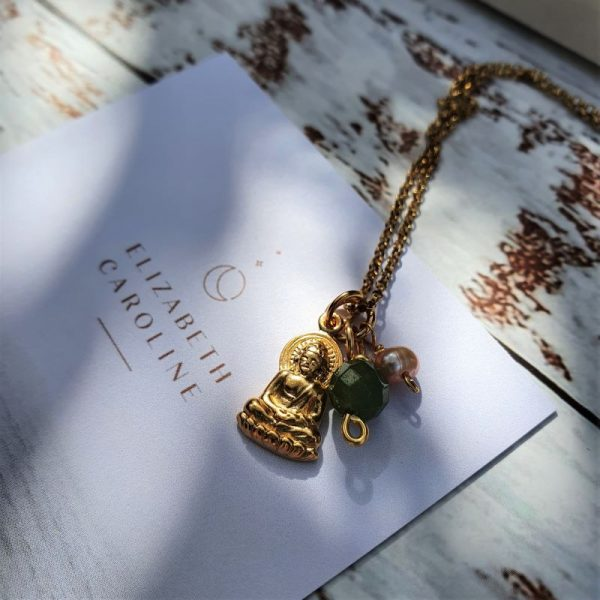 Jade Buddha Gemstone Necklace