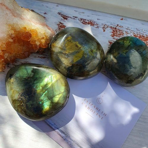 Labradorite Palm Stone Crystals