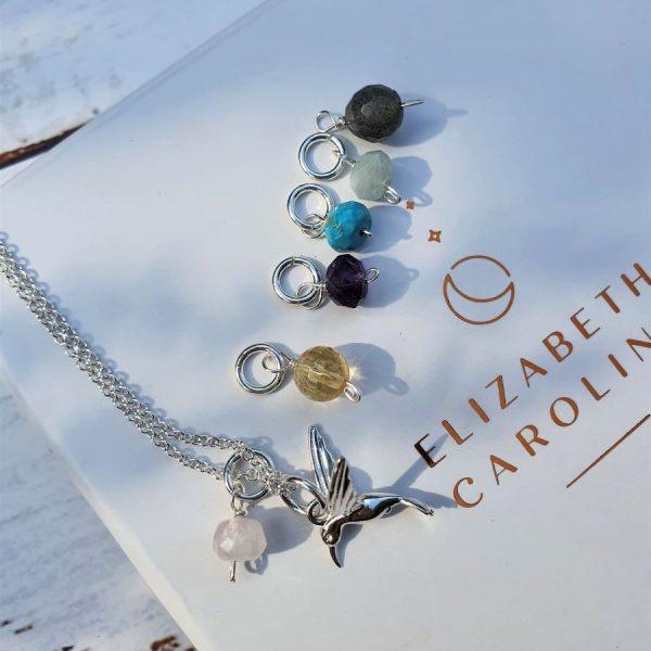 Kingfisher gemstone necklace
