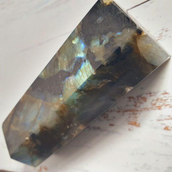 Labradorite gemstone point