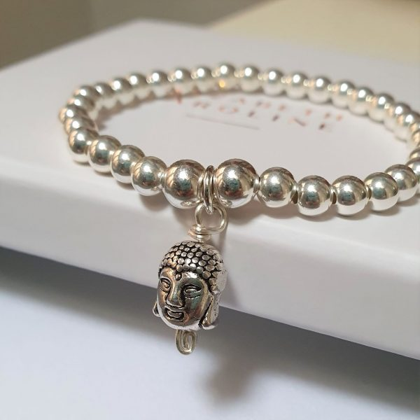 Sterling silver Buddha Bracelet