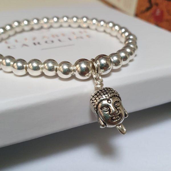 Sterling silver Buddha Charm Bracelet