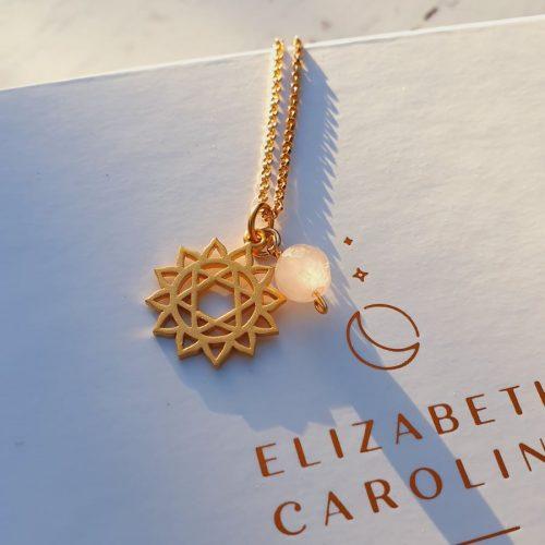 Rose quartz heart chakra pendant