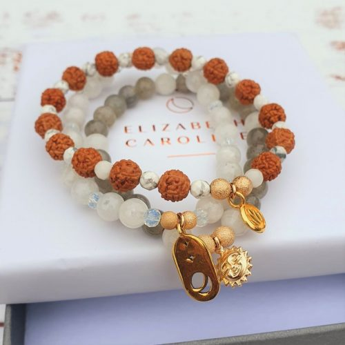 Cosmos gemstone stacker bracelet