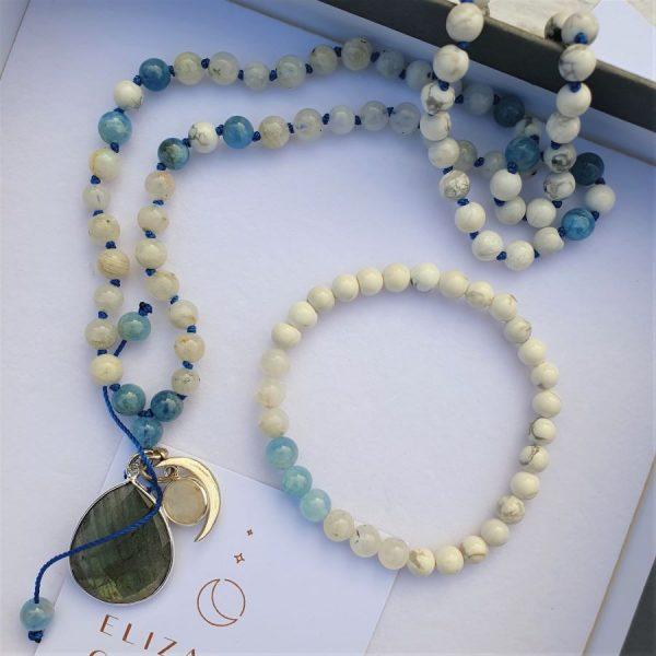 Moonstone Elizabeth Caroline mala jewellery