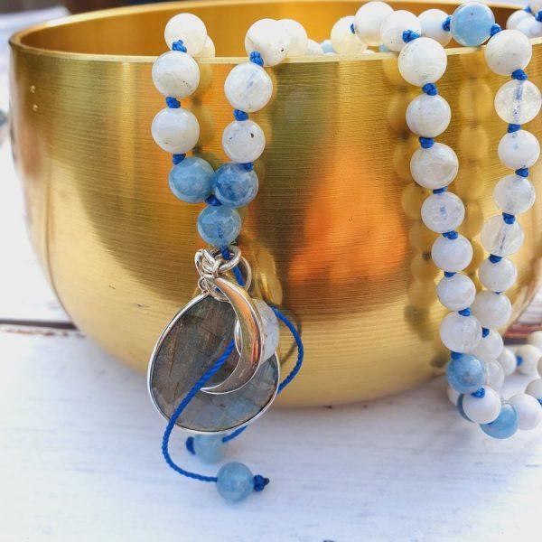 Labradorite Mala necklace by Elizabeth Caroline