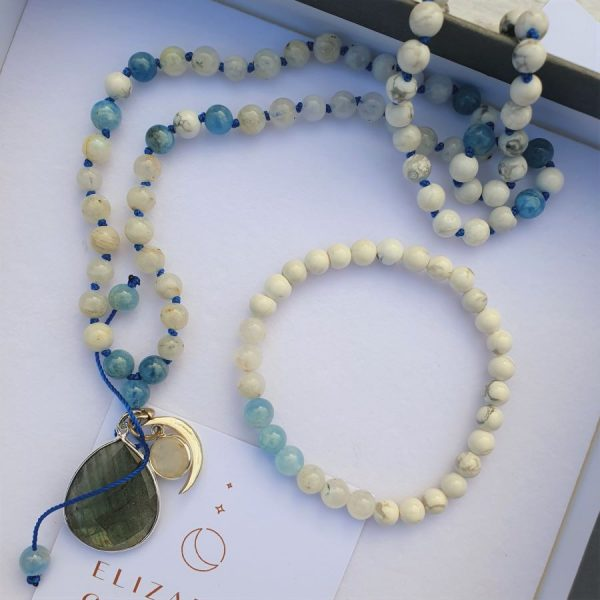 Moonstone Mala Set by Elizabeth Caroline