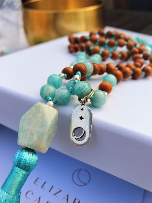 Elizabeth Caroline Amazonite Mala Necklace