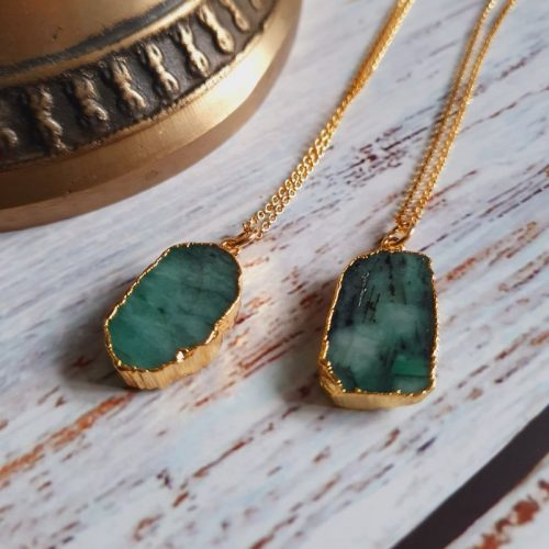 Elizabeth Caroline emerald necklace