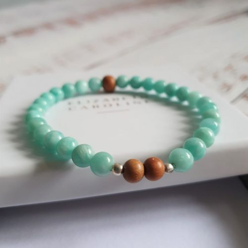 Amazonite Mala Bracelet by Elizabeth Caroline