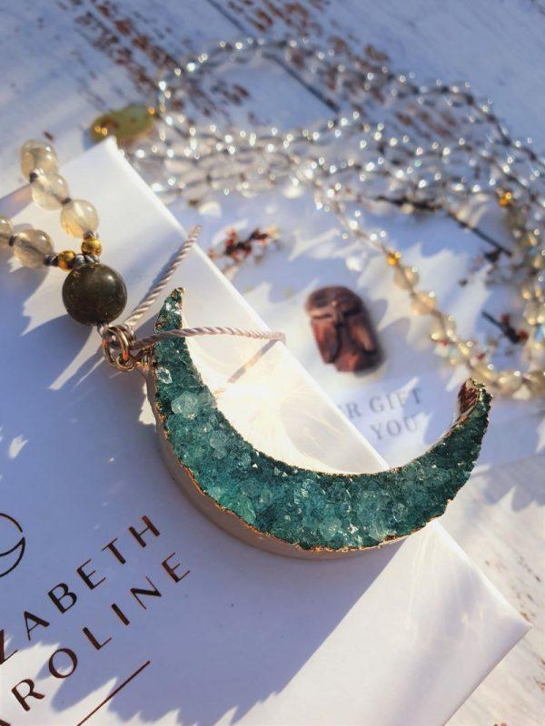 Moon mala jewellery by Elizabeth Caroline