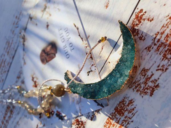 Druzy moon jewellery by Elizabeth Caroline