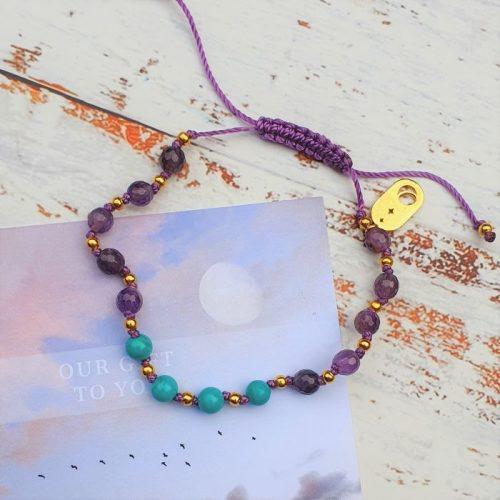 Amethyst and Turquoise bracelete