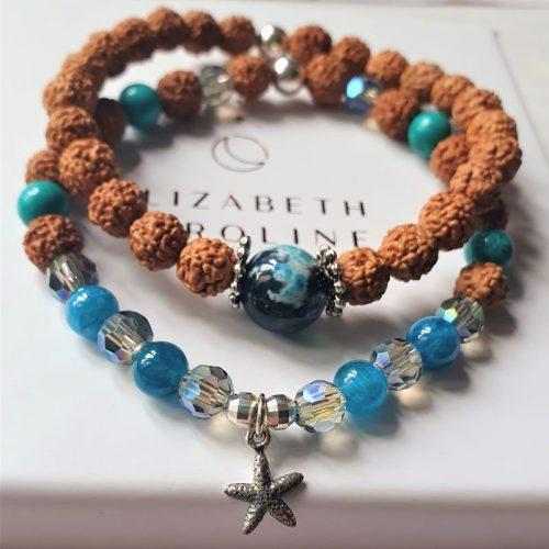 Ocean stacker gemstone bracelet