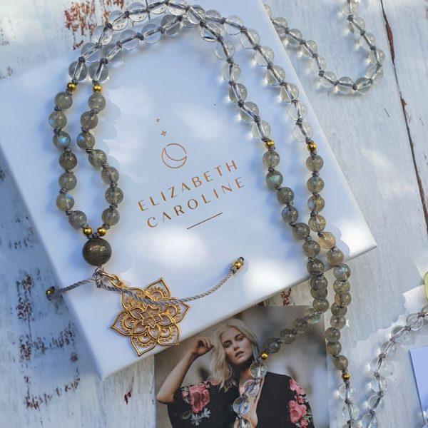 Lotus flower mala jewellery